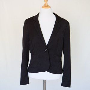 Divided By H&M Black Cropped Blazer Jacket Size 10